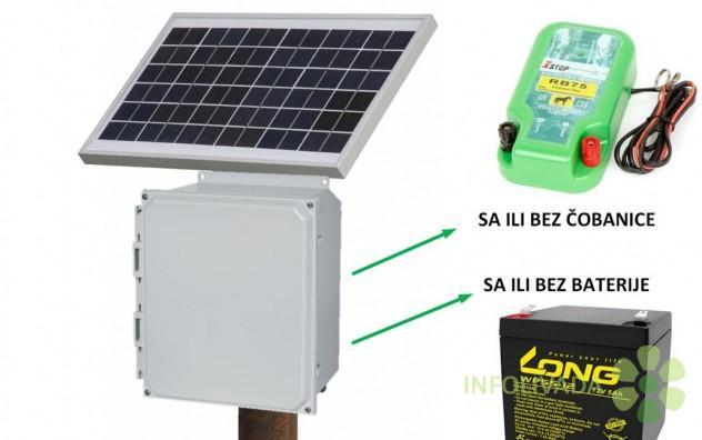 Solarni električni pastir, solarna čobanica, solarni panel